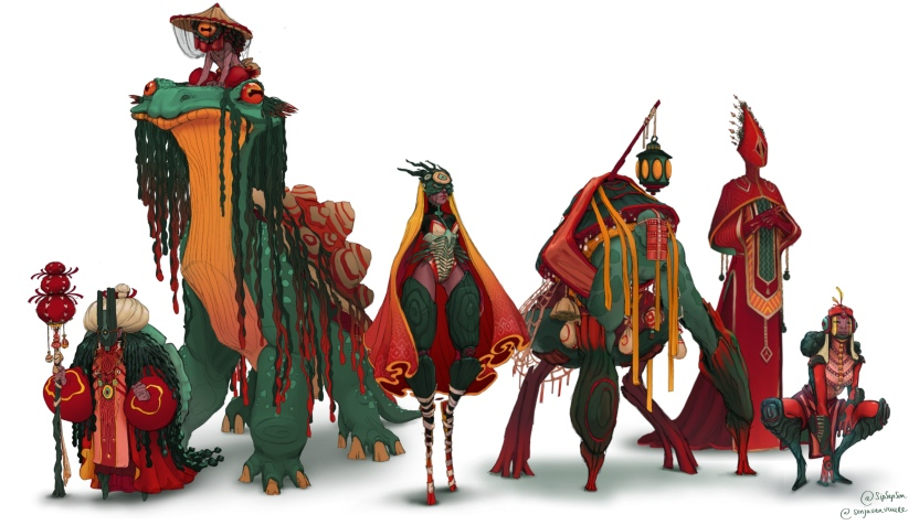 The swamp characters